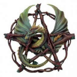 Forest Pentagram Dragon - Wall Hanging