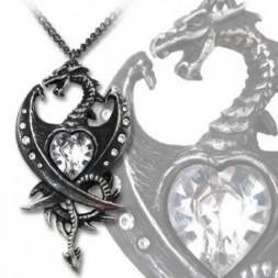 Dragon Diamond Heart Pendant