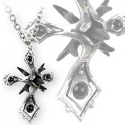 Caltrop Cross Onyx Pendant