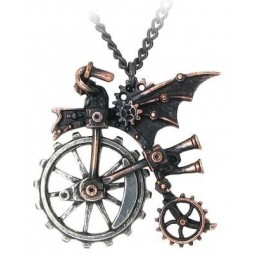 Ventus Traction Farthing Steampunk Pendant