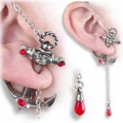 Anchors Away Ear Stud