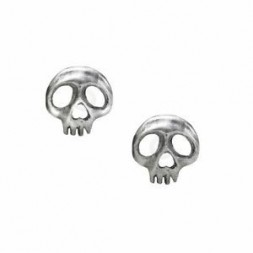 Skull Stud Pewter Earrings