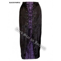Long Black and Purple Gothic Skirt