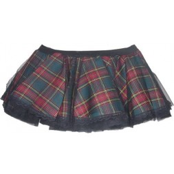 Tartan  Check Tutu Goth Skirt