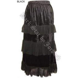 Black Goth Skirt - elasticated waist