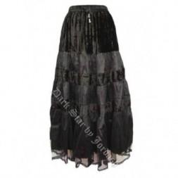 Black Velvet Goth Skirt