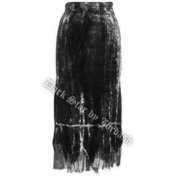 Long Black Gothic Skirt
