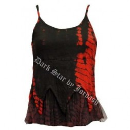 Tie dyed spaghetti strap Goth Top