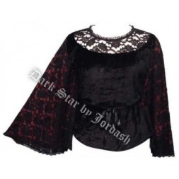 Velvet and Lace bat wing Goth Top