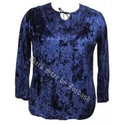 Blue Velvet  Goth Top (16-18)