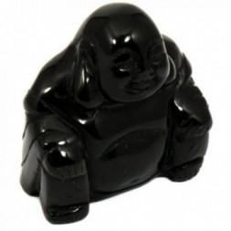 Black Obsidian Buddha Statue
