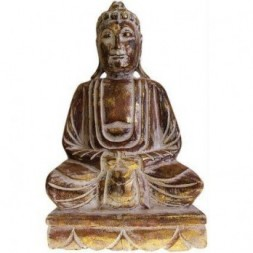 Dhyana Mudra Buddha Wooden Carved Statue