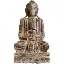 Dhyana Mudra Buddha Wood Carved Statue