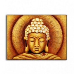 Sun Buddha Golden - Painting