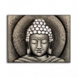Sun Buddha Silver - Painting