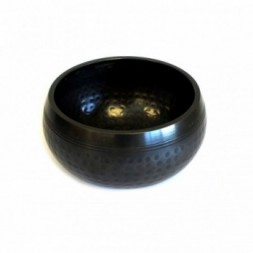 Black Beaten Bowl - small