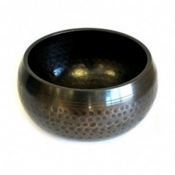 Black Beaten Singing Bowl