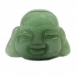 Jade Buddha Head Figurine