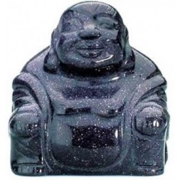 Blue Goldstone Buddha Statue