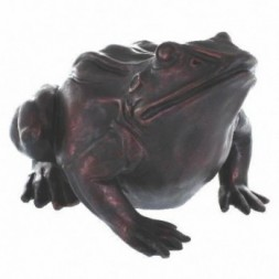 Frog Moon Gazing Bronze Effect Figurine