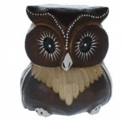 Brown Carved Owl  10cm
