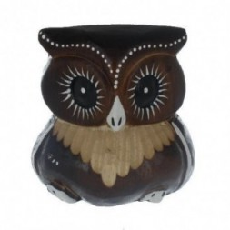 Brown Carved Owl  8cm