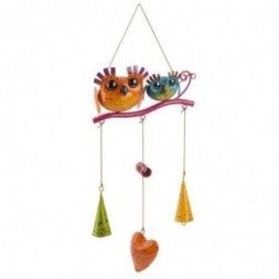 Colourful Owl Mobile Happy Couple