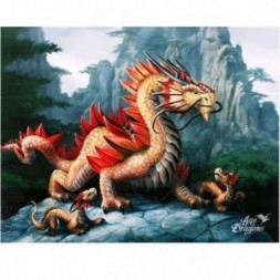 Golden Mountain Dragon Canvas Picture
