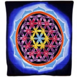 Flower of Life and Love Batik Art