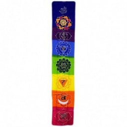 Chakra Drop Banner - Rainbow Batik Art