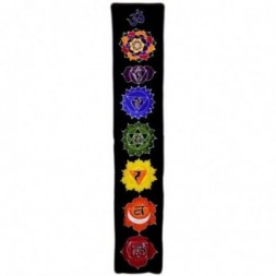 Chakra Drop Banner - Midnight Batik Art