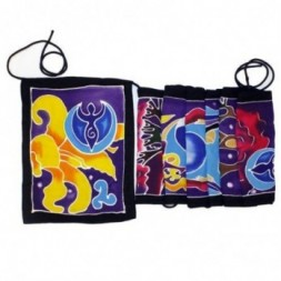 Seven Flags - Moon Goddess Batik Art