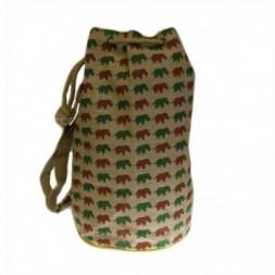 Jute Duffle Bag - Rhino