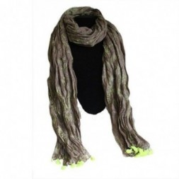 Moss Antique Tasseled Scarf