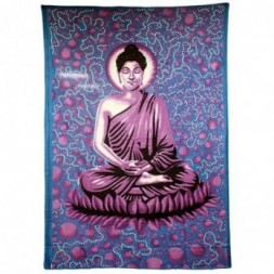 Large Blue Buddha Bedspread - Wall Art