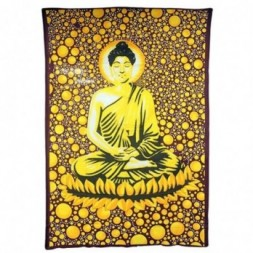Large Brown Buddha Bedspread - Wall Art