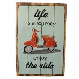 Rough Wooden Sign - Life's a Journey
