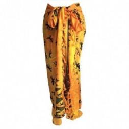 Bali Gecko Sarong - Yellow