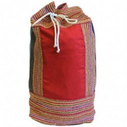 Nepal Duffle Bag - Red Panel