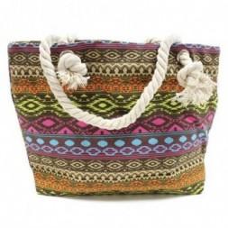 Rope Handle Bag - Bali Tan and Tones