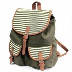 Traveller Backpack - Olive Stripes