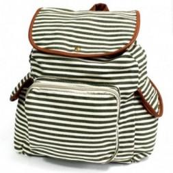 Traveller Backpack - Olive Stripe Pattern