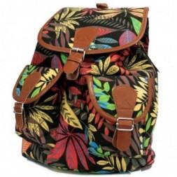 Jungle Bag - Big Backpack - Black-Orange