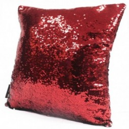 2x Mermaid Cushion Covers - Christmas Red and Green
