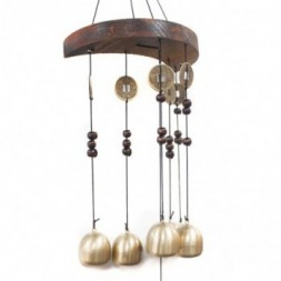 Feng Shui Chimes - Moon and 6 Bells and Coins