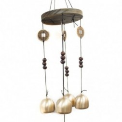 Feng Shui Chimes - Lucky Coin 4 Bells