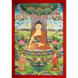 Gautam Buddha Seated Under The Bodhi Tree Thangka Painting