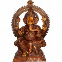 Ganesha Large Double Chola Statue