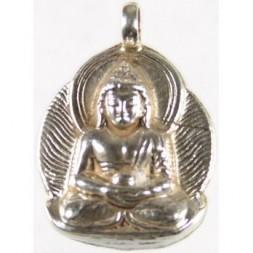 Amitabha Buddha Silver Pendant