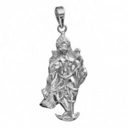 Bhagawan Kartikeya Silver Pendant